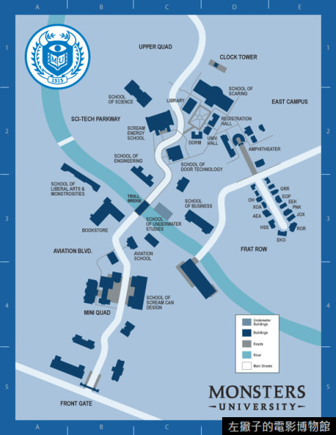 Monsters-University-Campus-Map