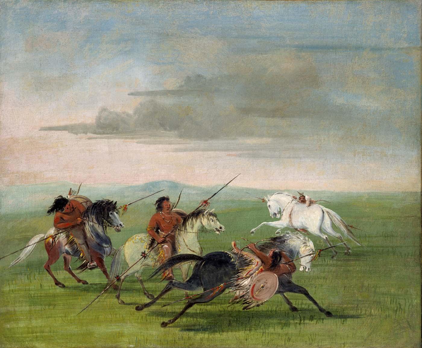 Comanche_Feats_of_Horsemanship-George_Catlin